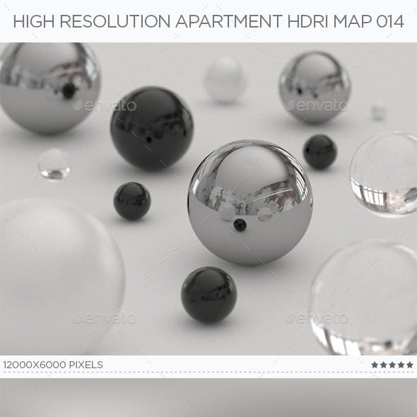 High Resolution Apartment HDRi Map 014