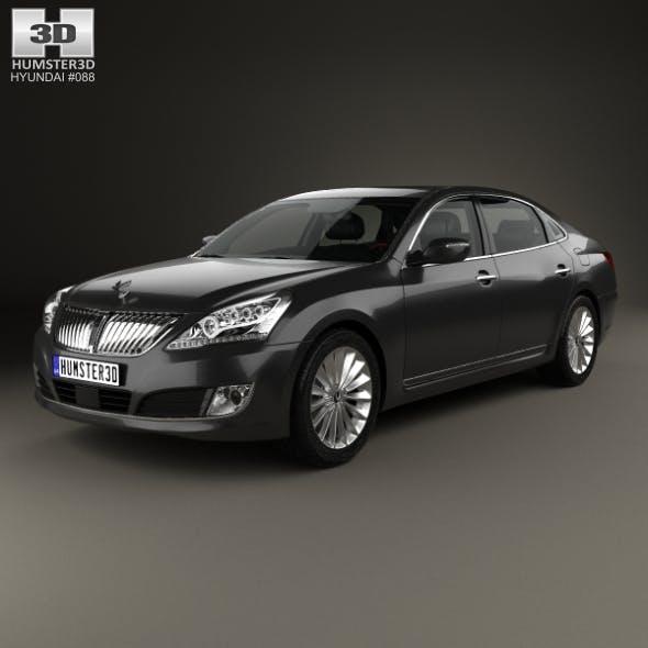 Hyundai Equus (Centennial) with HQ interior 2014 - 3DOcean Item for Sale