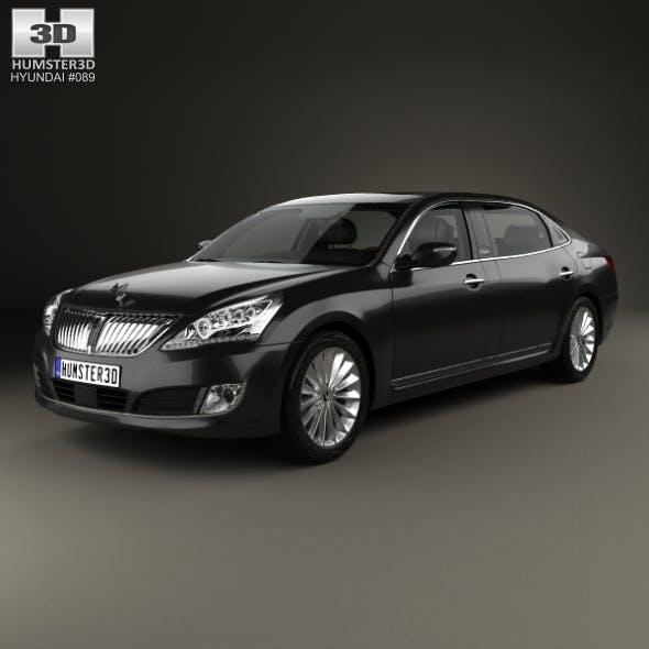 Hyundai Equus (Centennial) limousine with HQ interior 2014 - 3DOcean Item for Sale