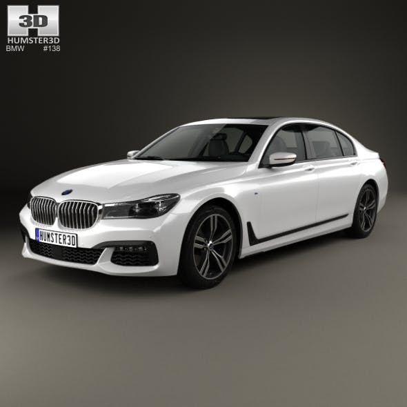 BMW 7 Series (G12) L M Sport Package 2015 - 3DOcean Item for Sale