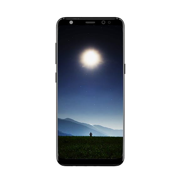 Galaxy S8 Black - 3DOcean Item for Sale
