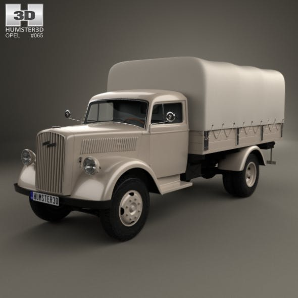 Opel Blitz Flatbed Truck 1940 - 3DOcean Item for Sale