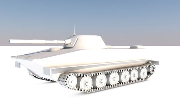 Tank-PT-76 - 3DOcean Item for Sale