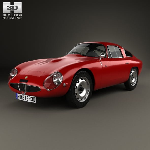 Alfa Romeo Giulia TZ (105) 1963 - 3DOcean Item for Sale