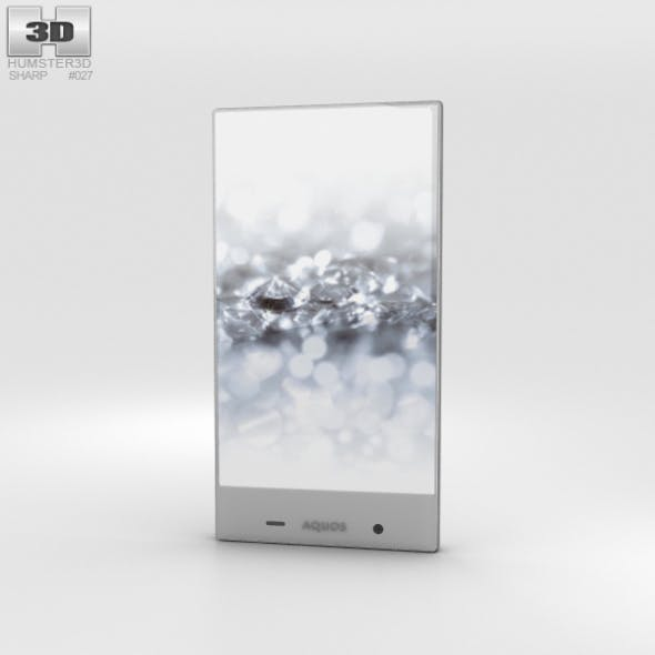 Sharp Aquos Crystal 2 White - 3DOcean Item for Sale