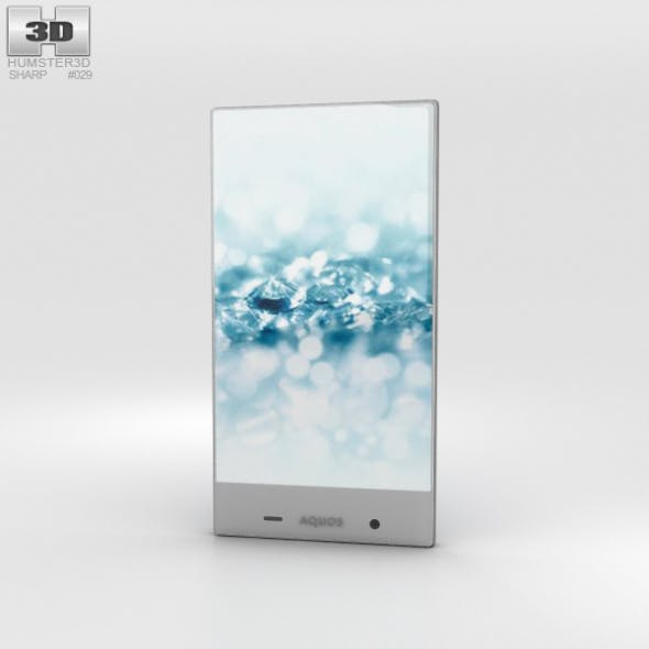 Sharp Aquos Crystal 2 Blue - 3DOcean Item for Sale