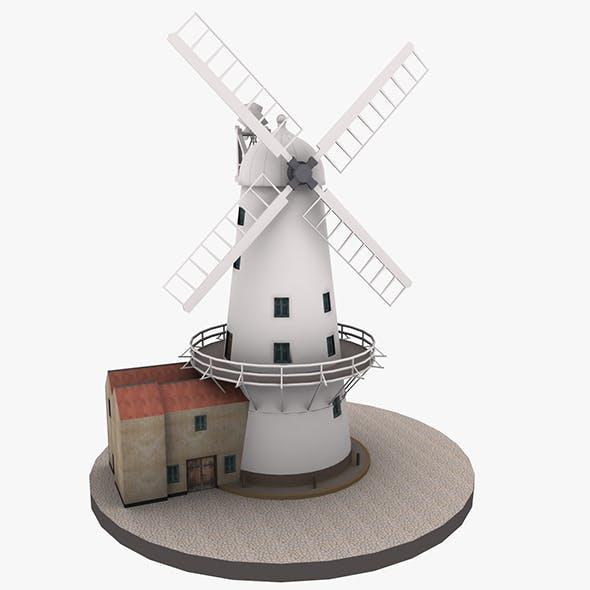 Llancayo Windmill Usk - 3DOcean Item for Sale