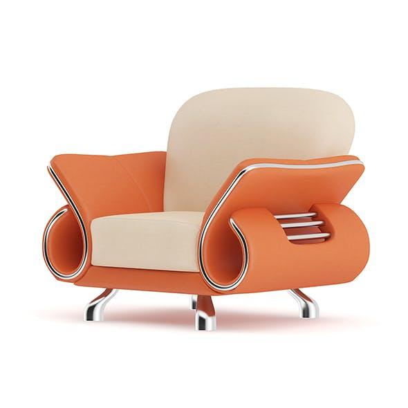 Orange Leather Armchair - 3DOcean Item for Sale