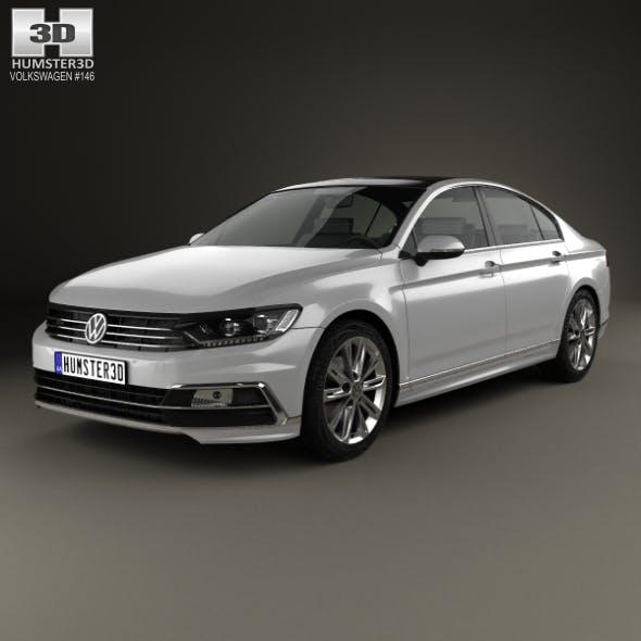 Volkswagen Passat R-line (B8) sedan 2015 - 3DOcean Item for Sale