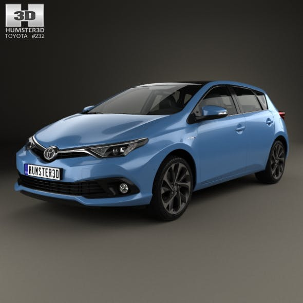 Toyota Auris hatchback Hybrid 2015 - 3DOcean Item for Sale