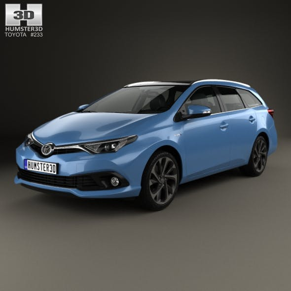 Toyota Auris Touring Sports Hybrid 2015 - 3DOcean Item for Sale