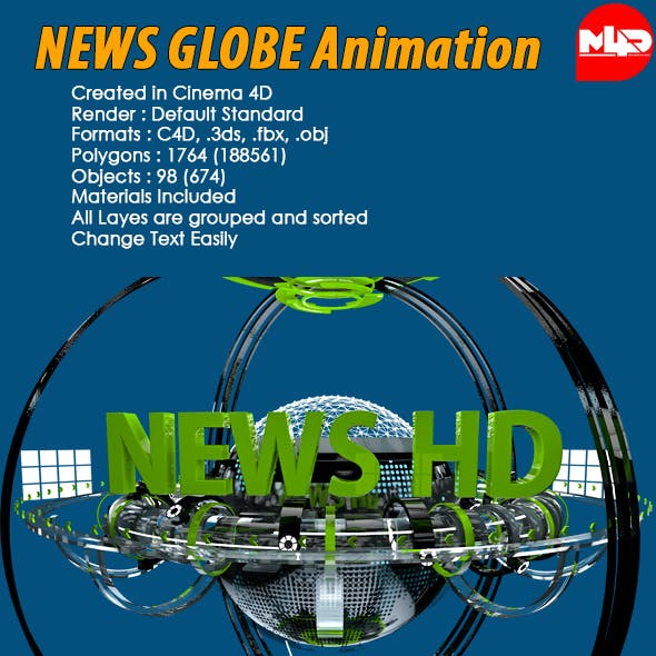 News Globe Futuristic Animation