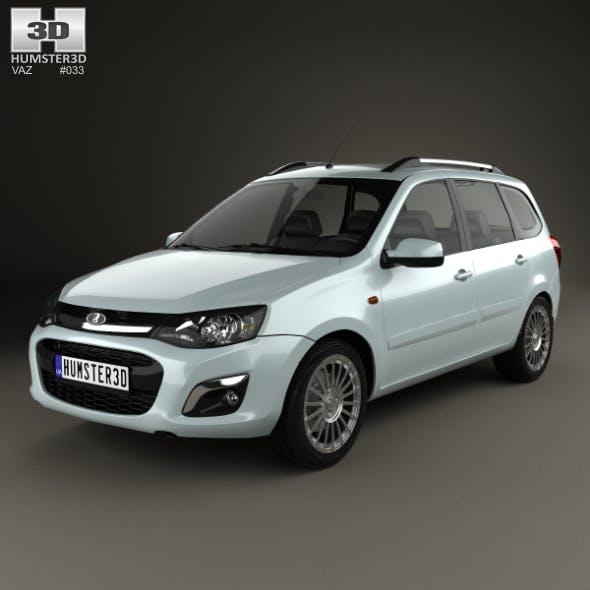 VAZ Lada Kalina (2194) Wagon 2014 - 3DOcean Item for Sale