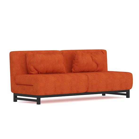 Orange Fabric Sofa - 3DOcean Item for Sale