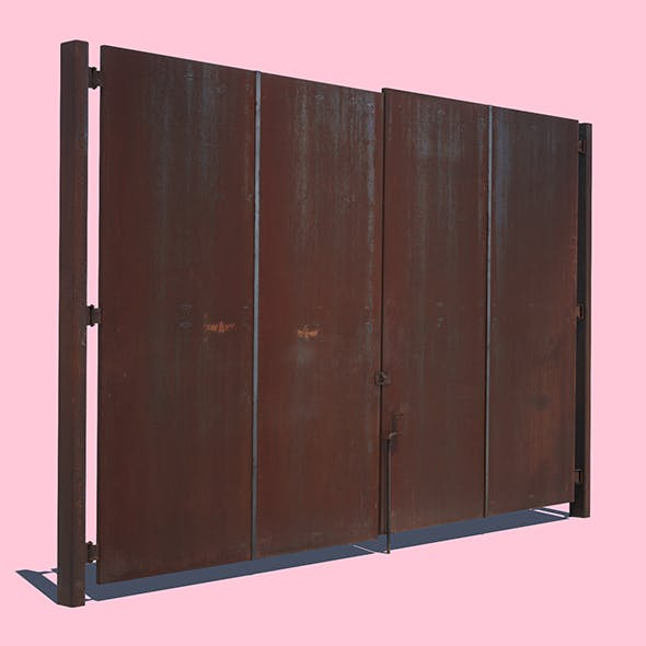 Rusty Metal Door - 3DOcean Item for Sale
