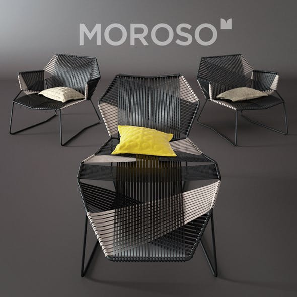 Moroso tropicalia chaise longue - 3DOcean Item for Sale