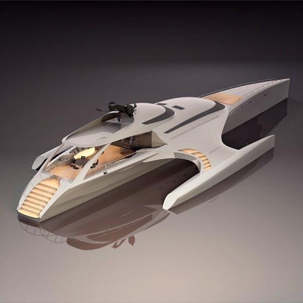 Luxury yacht trimaran - 3DOcean Item for Sale