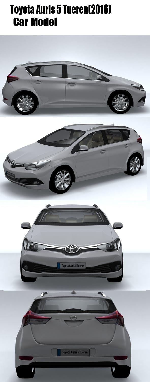 Toyota Auris 5 Tueren (2016) - 3DOcean Item for Sale