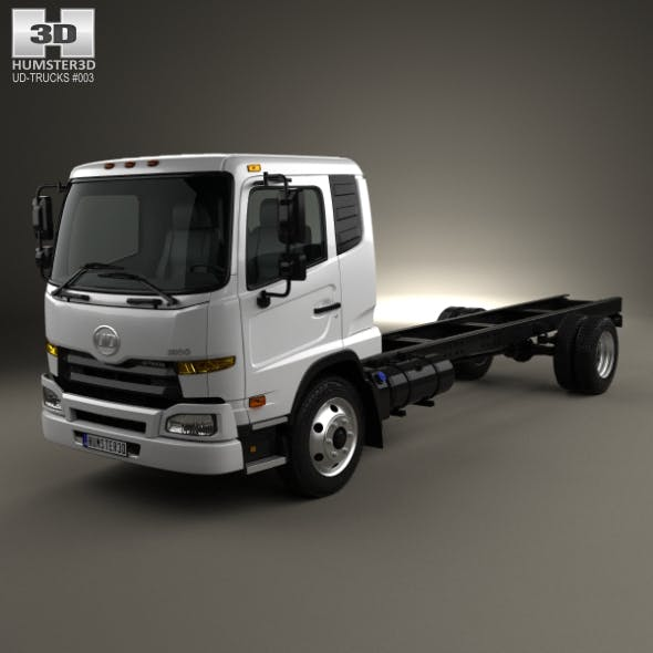 UD Trucks UD1800 Chassis Truck 2011 - 3DOcean Item for Sale