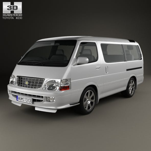 Toyota Hiace Passenger Van (JP) 1999 - 3DOcean Item for Sale