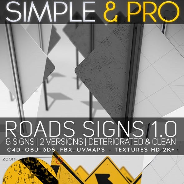 Roads Signs 1.0 & Textures