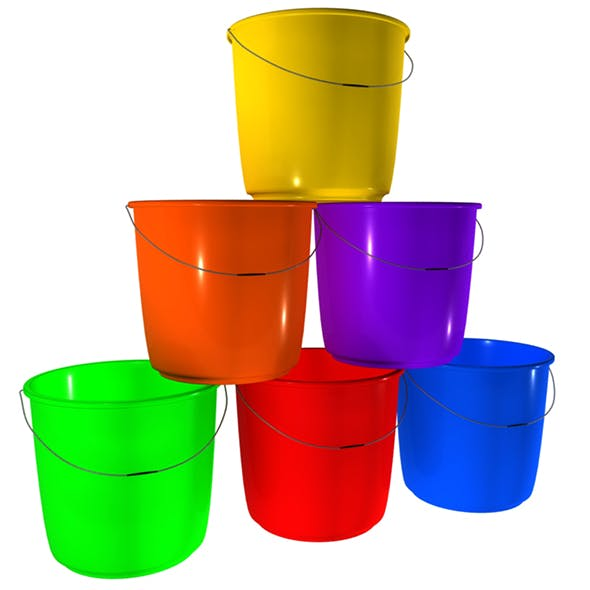 Plastic Bucket - 3DOcean Item for Sale