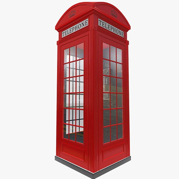 London Public phone - 3DOcean Item for Sale