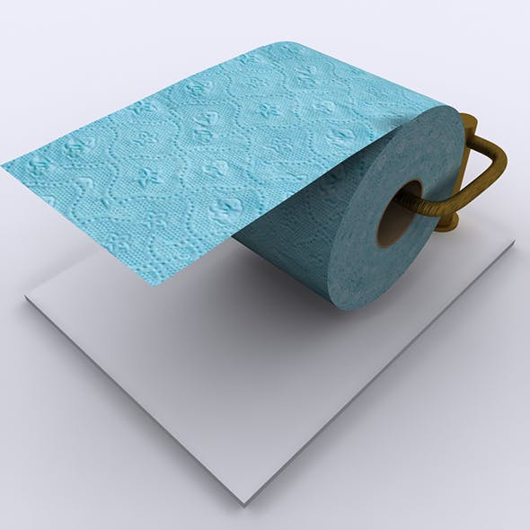 Toilet Tissue Paper 02 - 3DOcean Item for Sale