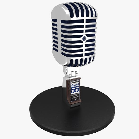 Vintage Microphone - 3DOcean Item for Sale