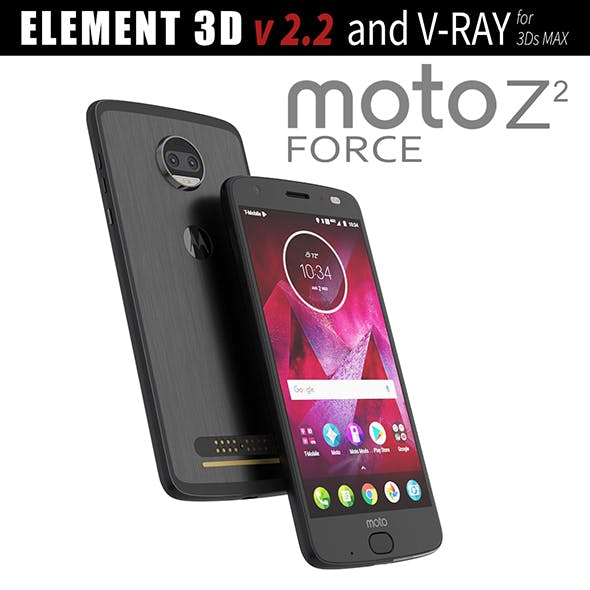 Moto Z2 Force BLACK model - 3DOcean Item for Sale