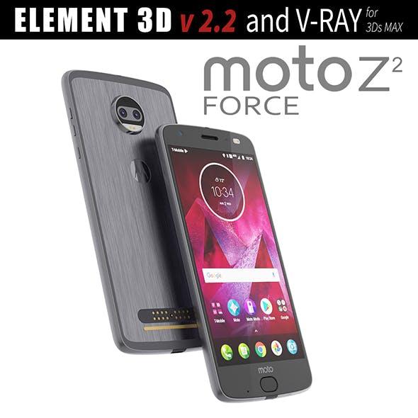 Moto Z2 Force GRAY model - 3DOcean Item for Sale