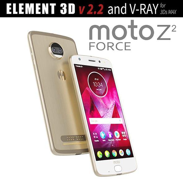 Moto Z2 Force GOLD model