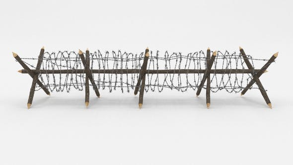 Barb Wire Obstacle 11 - 3DOcean Item for Sale