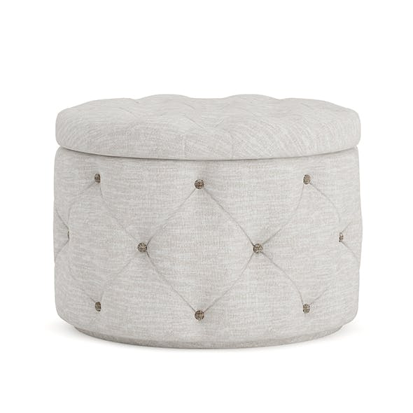 Grey Fabric Pouf - 3DOcean Item for Sale