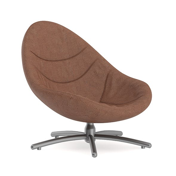 Brown Leather Swivel Chair