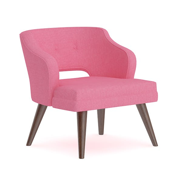 Pink Fabric Armchair - 3DOcean Item for Sale