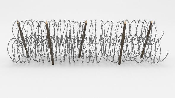 Barb Wire Obstacle 13 - 3DOcean Item for Sale