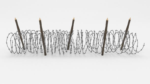 Barb Wire Obstacle 15 - 3DOcean Item for Sale