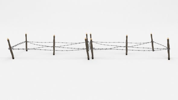 Barb Wire Obstacle 17 - 3DOcean Item for Sale