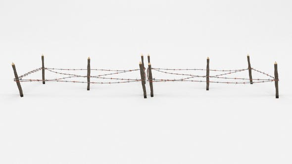 Barb Wire Obstacle 18 - 3DOcean Item for Sale