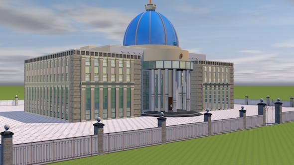 The Residence of the President of Kazakhstan - 3DOcean Item for Sale