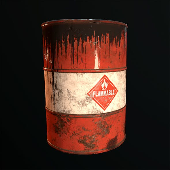 Old Rusty Oil Barrel - 3DOcean Item for Sale