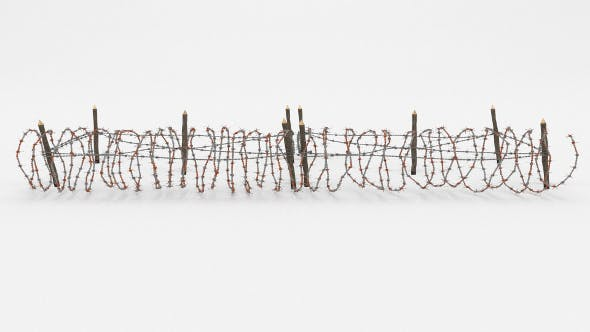 Barb Wire Obstacle 20 - 3DOcean Item for Sale