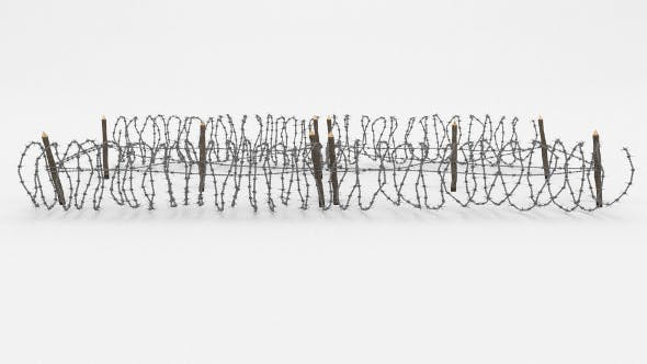 Barb Wire Obstacle 21 - 3DOcean Item for Sale