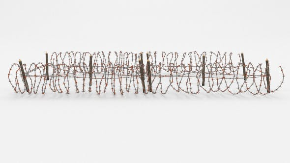 Barb Wire Obstacle 22 - 3DOcean Item for Sale