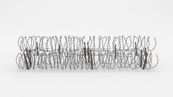 Barb Wire Obstacle 23 - 3DOcean Item for Sale