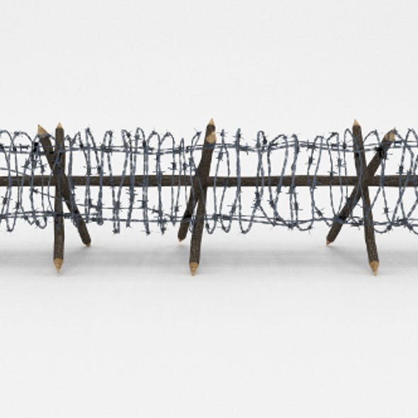 Low Poly Barb Wire Obstacle 11
