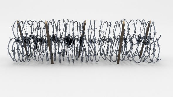 Low Poly Barb Wire Obstacle 13 - 3DOcean Item for Sale