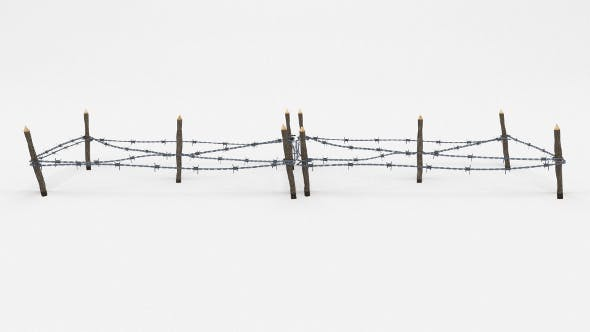 Low Poly Barb Wire Obstacle 17 - 3DOcean Item for Sale