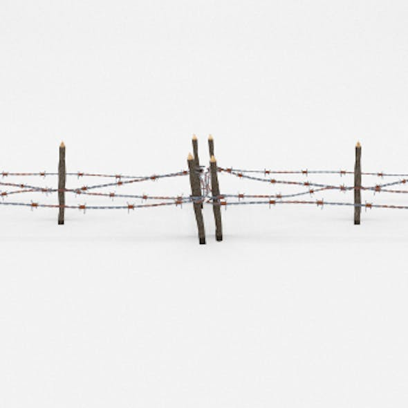 Low Poly Barb Wire Obstacle 18